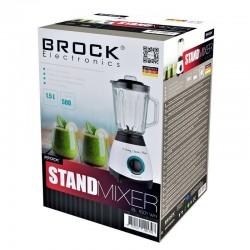 BROCK Blenderis. 1.5 L stikla trauks (BL 1501 WH)