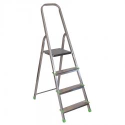 Vienpusējās alumīnija mājsaimiencības kāpnes, 3 pakāpieni (000262)