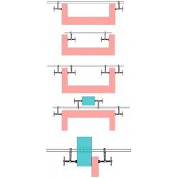 Daudzfunkciju skava ar īpašu spiediena stiprinājumu un 2 uzgriežņu atslēgas 1000 mm Bessey (861750 1000)
