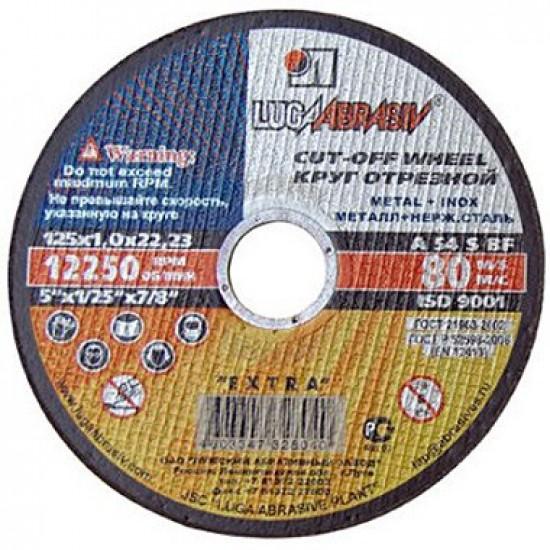 Griezējdisks met/ner.tēr. 125x1.6x22.23mm A54S BF LUGA (030226)