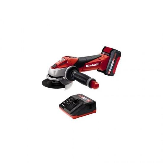 Akumulatora leņķa slīpmašīna Einhell Expert Plus TE-AG 18/115 Li KIT (4.0 Ah) (4431119)