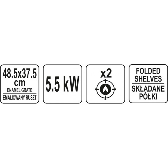 Gāzes grils 5,5 kW. (99644)