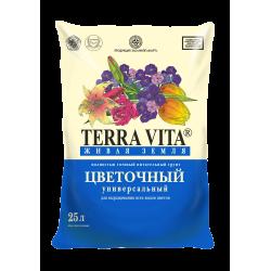 Kūdras substrāts Terra Vita Dzīva zeme puķēm 25l (kul25)