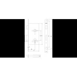 Slēdzene LOB Assa 72/55 (Z755B)