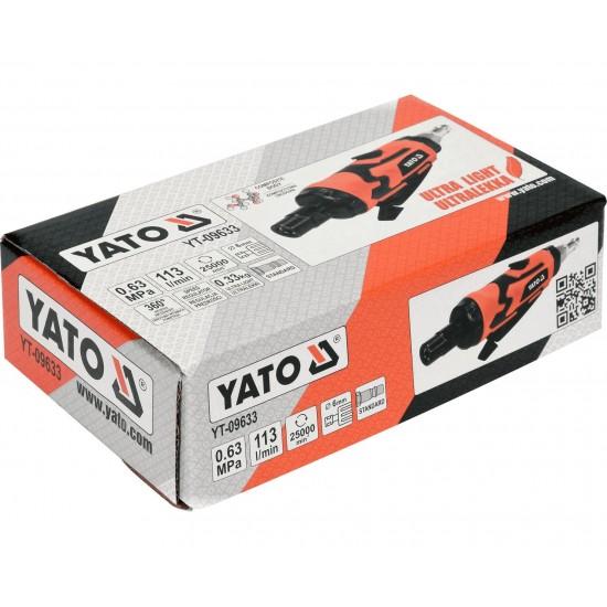 Pneimatiskā taisnā slīpmašīna yato (YT-09633)